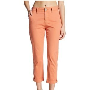 NWT NYDJ Riley Stretch Chino Pants Peach Size 14